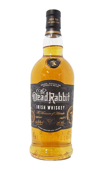 dead rabbit Irish whiskey bottle