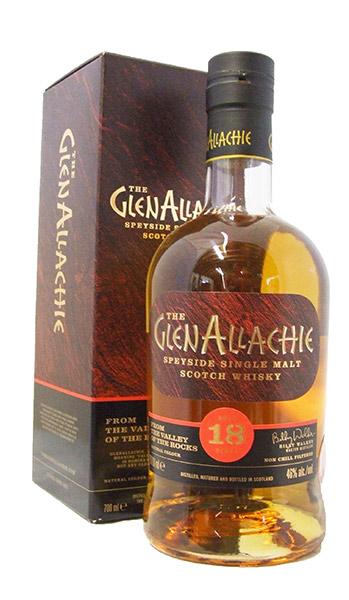 GlenAllachie 18 year whisky bottle