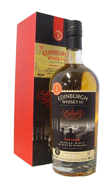 inchgower 18 Edinburgh whisky bottle