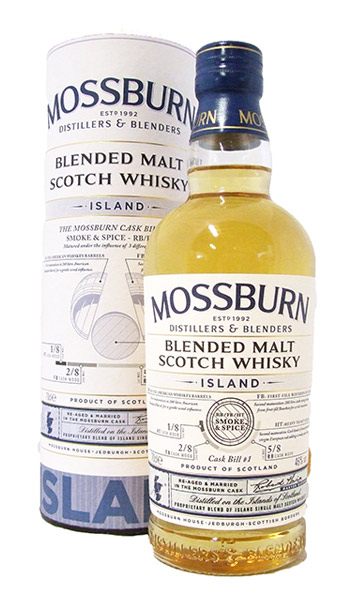 moss burn island whisky bottle
