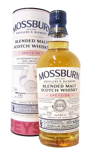 moss burn speyside whisky bottle