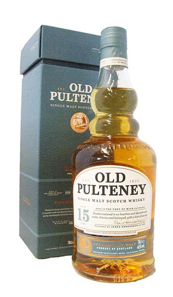 old pulteney 15 whisky bottle