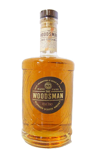 woodsman whisky bottle